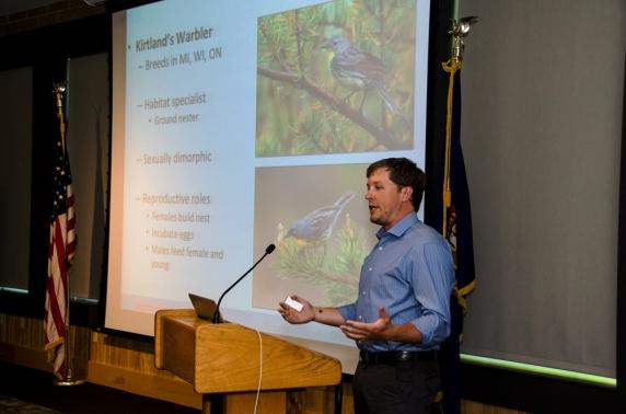 Nathan Cooper-Keynote Speaker at last year's Kirtland's Warbler Home Opener